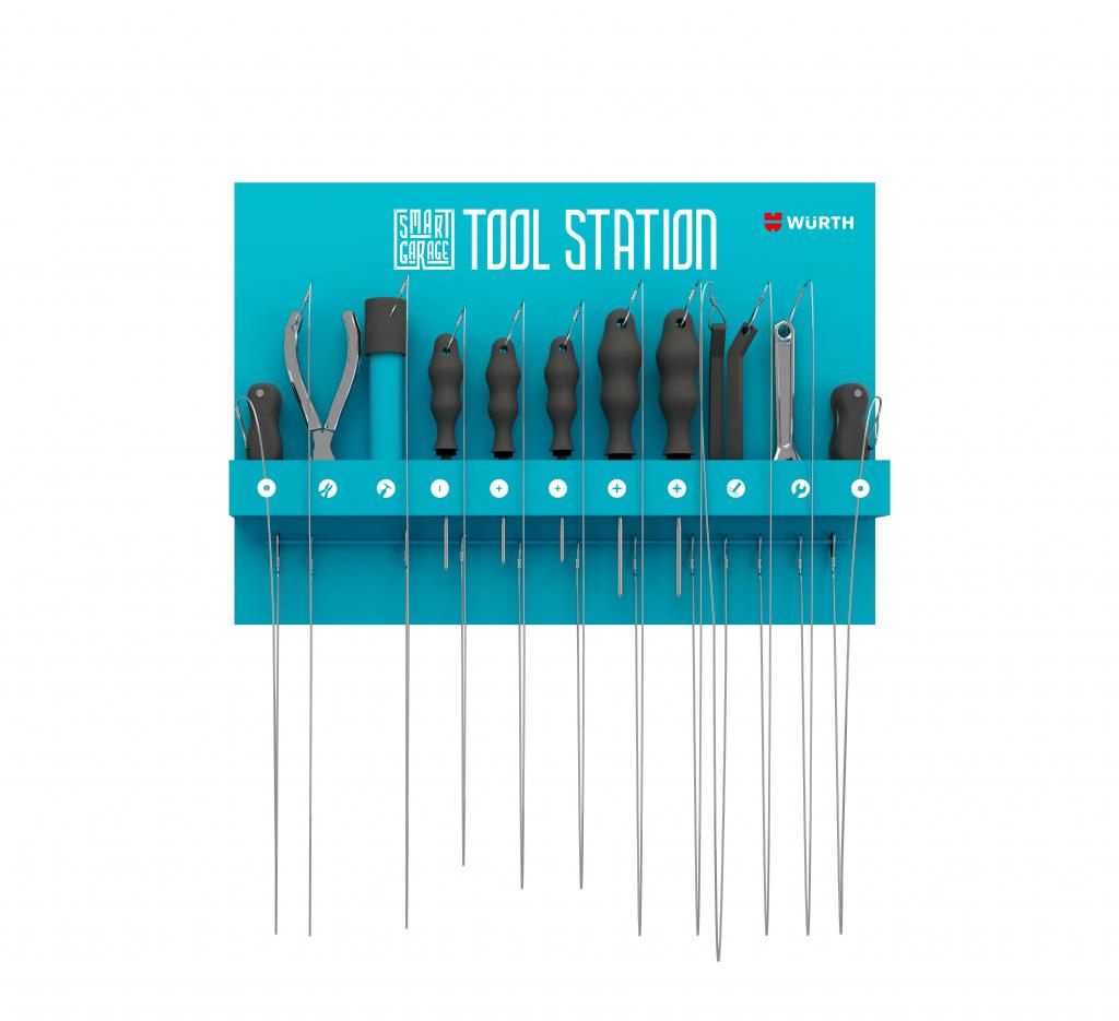 Tool station con grafiche jpeg