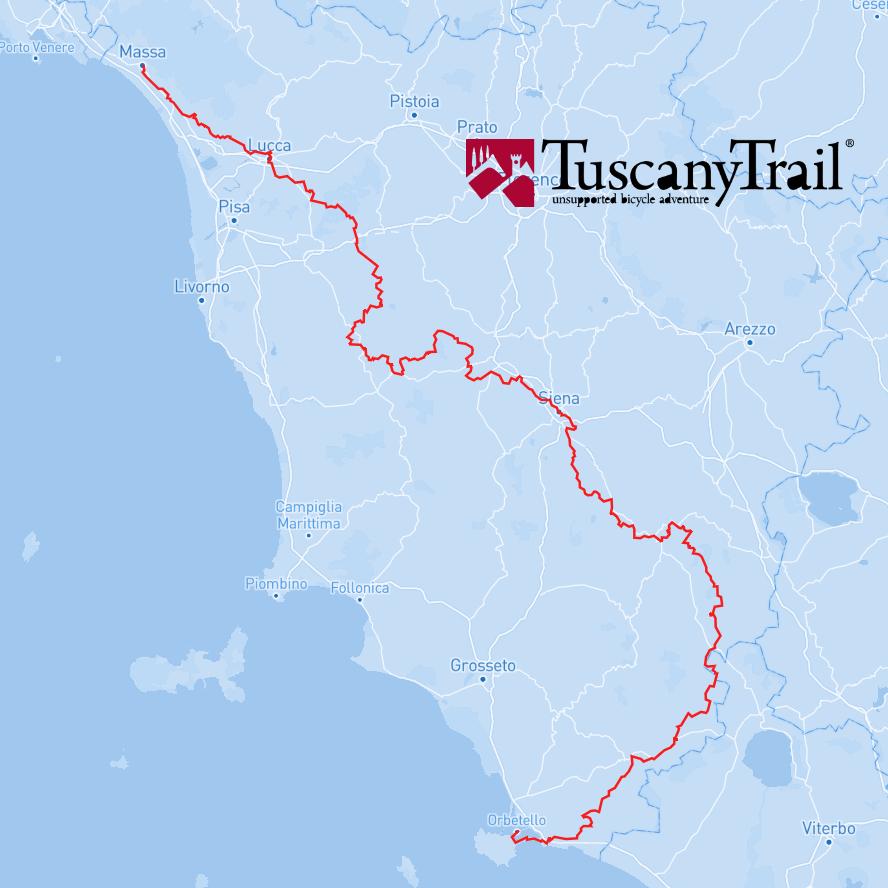 MAPPA TOUSCANY TRAIL 2021